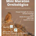 Mini maratón ornitológico en la Sierra de Santo Domingo